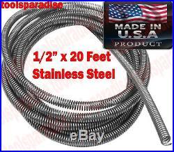 1/2 x 20-FT AUTO AC BRAKE FUEL LINE Protective Tube Tubing Spring Flexible Cord