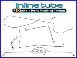 1963-64 Chevrolet Corvette MANUAL Drum Complete Brake Line Kit Set 6pc STAINLESS