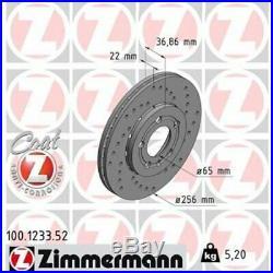2 St. 2x Bremsscheibe ZIMMERMANN 100.1233.52