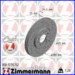 2 St. 2x Bremsscheibe ZIMMERMANN 100.1235.52
