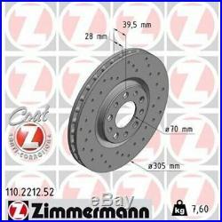 2 St. 2x Bremsscheibe ZIMMERMANN 110.2212.52