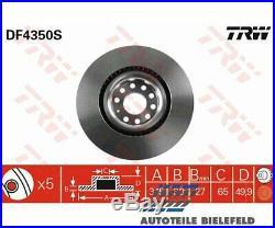 2 St. Original TRW DF4350S TRW Bremsscheibe