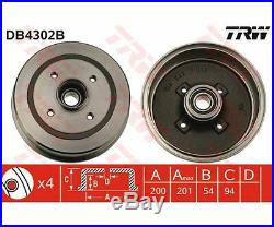 2 St. TRW Bremstrommel für Opel Corsa C Corsa C Kasten Tigra Twintop