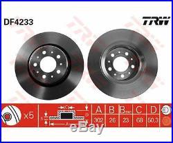 2 St. TRW DF4233 Bremsscheibe für Volvo V70 I S70 C70 I Cabriolet 850 Kombi