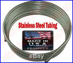 """Roll of Stainless steel 3//8/"""" Fuel line tubing  w// Tube cutter 16 ft"""