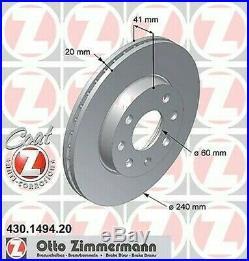 2X Bremsscheibe Für Opel Corsa C Box X01 Z 12 Xep Z 17 Dth