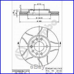 2x BREMBO Brake Disc BREMBO MAX LINE 09.7629.75