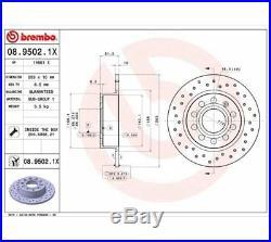 2x BREMBO Brake Disc BREMBO XTRA LINE 08.9502.1X