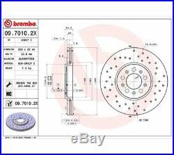 2x BREMBO Brake Disc BREMBO XTRA LINE 09.7010.2X