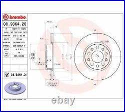 2x BREMBO Brake Disc COATED DISC LINE 08.9364.21