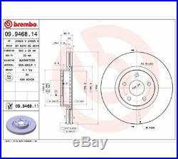 2x BREMBO Brake Disc COATED DISC LINE 09.9468.11