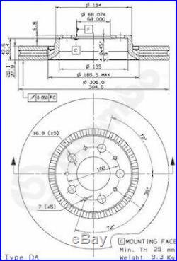 2x BREMBO Bremsscheibe Bremsscheiben Satz Bremsen BREMBO MAX LINE Vorne