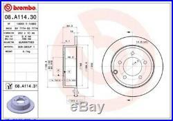 2x BREMBO Bremsscheibe Bremsscheiben Satz Bremsen COATED DISC LINE Hinten