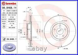 2x BREMBO Bremsscheibe Bremsscheiben Satz Bremsen COATED DISC LINE Vorne