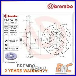 2x BREMBO FRONT BRAKE DISC SET SKODA VW AUDI SEAT OEM 0997721X 1K0615301AA