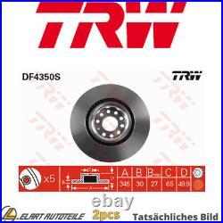 2x Die Bremsscheibe Für Vw Audi Seat Skoda Golf VI Cabriolet 517 Cjza Cyvd Culc