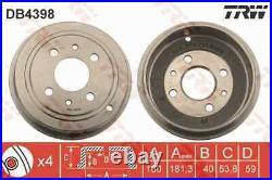 2x Die Bremstrommel Für Fiat Lancia Ford Punto 176 176 B7 000 176 A6 000 Panda