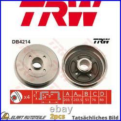2x Die Bremstrommel Für Renault Dacia Thalia I Lb K7j 700 K4j 712 F8q 630 D4f