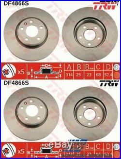 2x NEU TRW Bremsscheibe DF4866S für Audi A4 Avant A4 A5 Sportback A5
