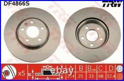 2x Original TRW Bremsscheibe Bremsscheibensatz vorne Ø314mm belüftet // DF4866S