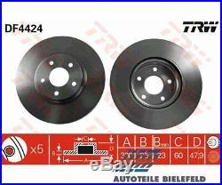 2x Original TRW TRW Bremsscheibe DF4424 für Ford Focus III Focus III Turnier