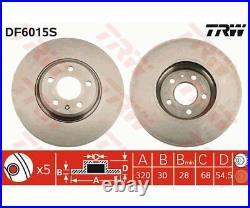 2x TRW Brake Disc DF6015S