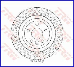 2x TRW Brake Disc DF6387