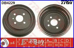 2x TRW Bremstrommel Trommeln Trommelbremse Hinten DB4229