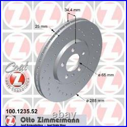 2x ZIMMERMANN Brake Disc SPORT BRAKE DISC COAT Z 100.1235.52