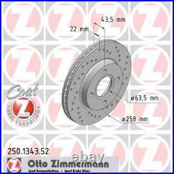 2x ZIMMERMANN Brake Disc SPORT BRAKE DISC COAT Z 250.1343.52