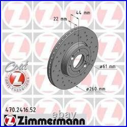 2x ZIMMERMANN Brake Disc SPORT BRAKE DISC COAT Z 470.2416.52