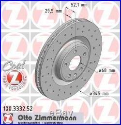 2x ZIMMERMANN Bremsscheibe SPORT-BREMSSCHEIBE COAT Z Vorne Audi