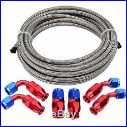 4/6/8/10AN Braided PTFE E85 Oil/Fuel Hose Line Brake Line Hose End Fittings Kit