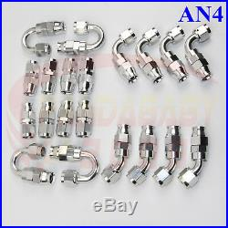 4# Teflon Ptfe Hose End Kit An4 -4 4an Oil Fuel Gas Brake Line Adapter Fitting S