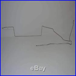 68-70 Ford Mustang, V8, EXCEPT Cobra jet 3/8 Tank to Pump Fuel Line, 2pc
