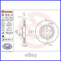 BREMBO 2x Bremsscheiben Innenbelüftet beschichtet 09.7012.11