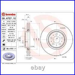 BREMBO 2x Bremsscheiben Innenbelüftet beschichtet 09. A757.11