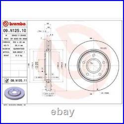 BREMBO 2x Bremsscheiben Innenbelüftet beschichtet 09. N125.11