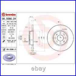 BREMBO 2x Bremsscheiben Voll beschichtet 08.5086.21
