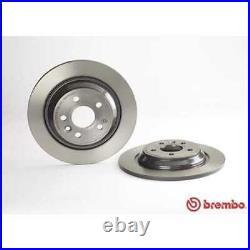 BREMBO 2x Bremsscheiben Voll beschichtet 08. A537.11