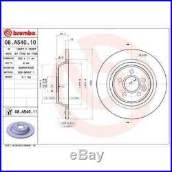BREMBO 2x Bremsscheiben Voll beschichtet 08. A540.11