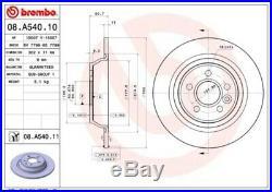 Brembo Bremsscheiben Ø302mm Satz hinten für Ford Mondeo 4 Galaxy Kuga 1 S-Max