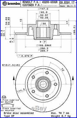 Bremsscheibe (2 Stück) BEARING DISC LINE Brembo 08. B391.17