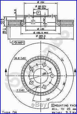 Bremsscheibe (2 Stück) BREMBO MAX LINE Brembo 09.9130.75