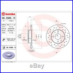 Bremsscheibe (2 Stück) BREMBO XTRA LINE Brembo 08.5085.1X
