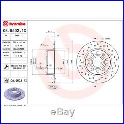 Bremsscheibe (2 Stück) BREMBO XTRA LINE Brembo 08.9502.1X