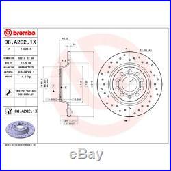 Bremsscheibe (2 Stück) BREMBO XTRA LINE Brembo 08. A202.1X