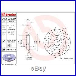 Bremsscheibe (2 Stück) BREMBO XTRA LINE Brembo 09.5802.2X