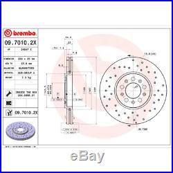 Bremsscheibe (2 Stück) BREMBO XTRA LINE Brembo 09.7010.2X