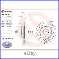 Bremsscheibe (2 Stück) BREMBO XTRA LINE Brembo 09.7806.1X